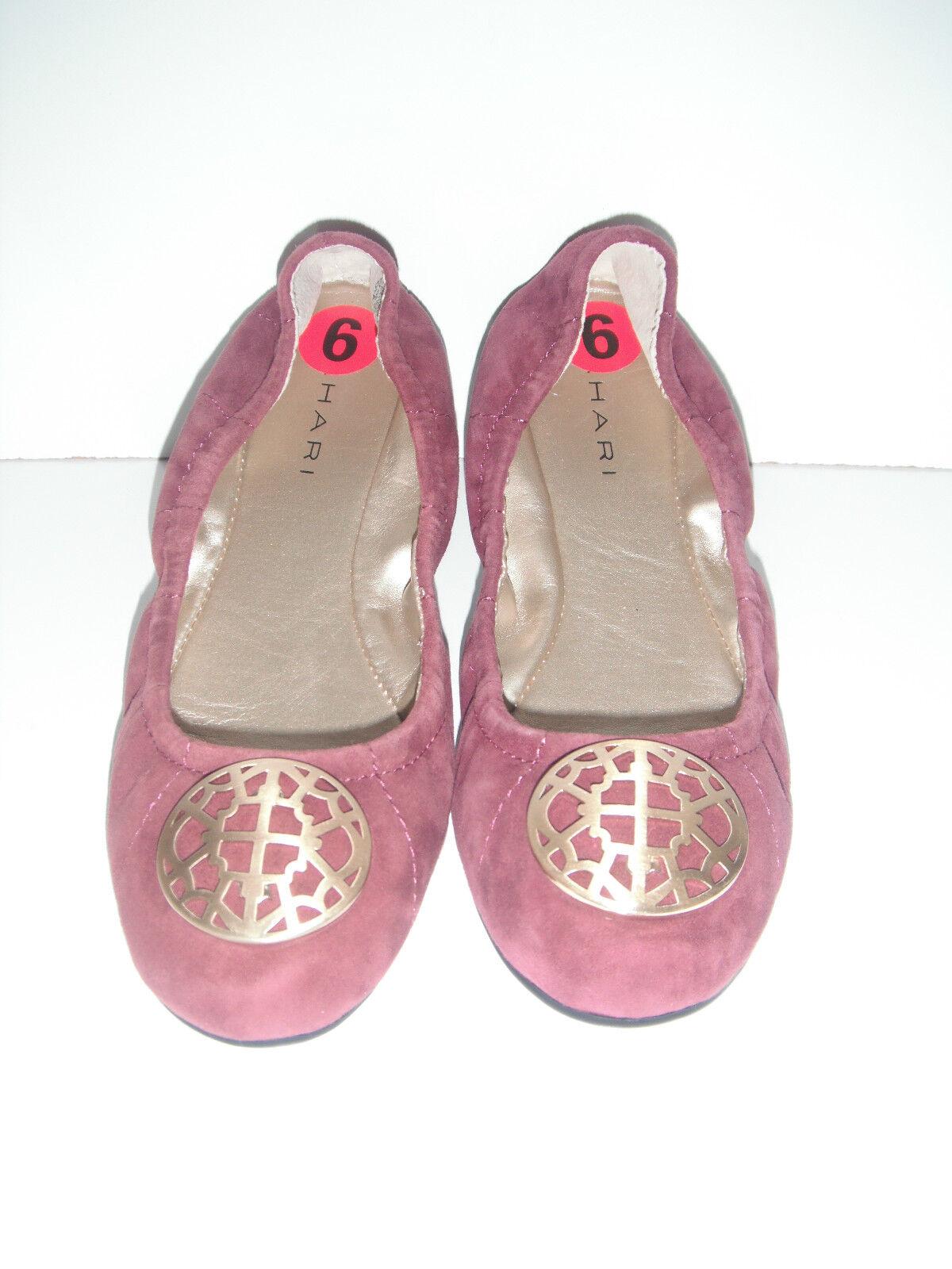 Nuevo Tahari Varsity CUERO CUERO CUERO ANTE BALLET zapatos planos Talle 6m  110  venta directa de fábrica