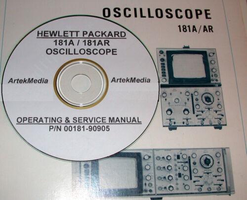 HP 181A 181AR Oscilloscope OPERATING /& SERVICE MANUAL