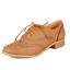 Brogue-Women-Retro-Lace-Up-Wing-Tip-Oxford-College-Style-Flat-Causal-Shoes-E609 thumbnail 5