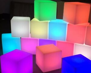 "Belle Us Vendeur Del De Couleur Ktv Bar Party Casino Pub Cafe Maison Meubles 17"" Cube Chaise-afficher Le Titre D'origine"