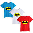 Summer Kids Baby Boys Girls Cartoon Batman Short sleeve Tops T-shirt 0~5Y P01
