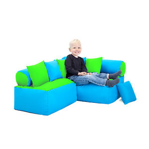 Lime Turquoise Childrens Reading Corner Soft Play Nursery Seating