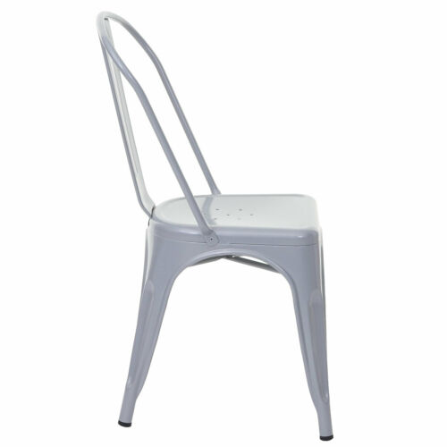 Bistrostuhl Stapelstuhl Stuhl MCW-A73 Metall Industriedesign stapelbar grau