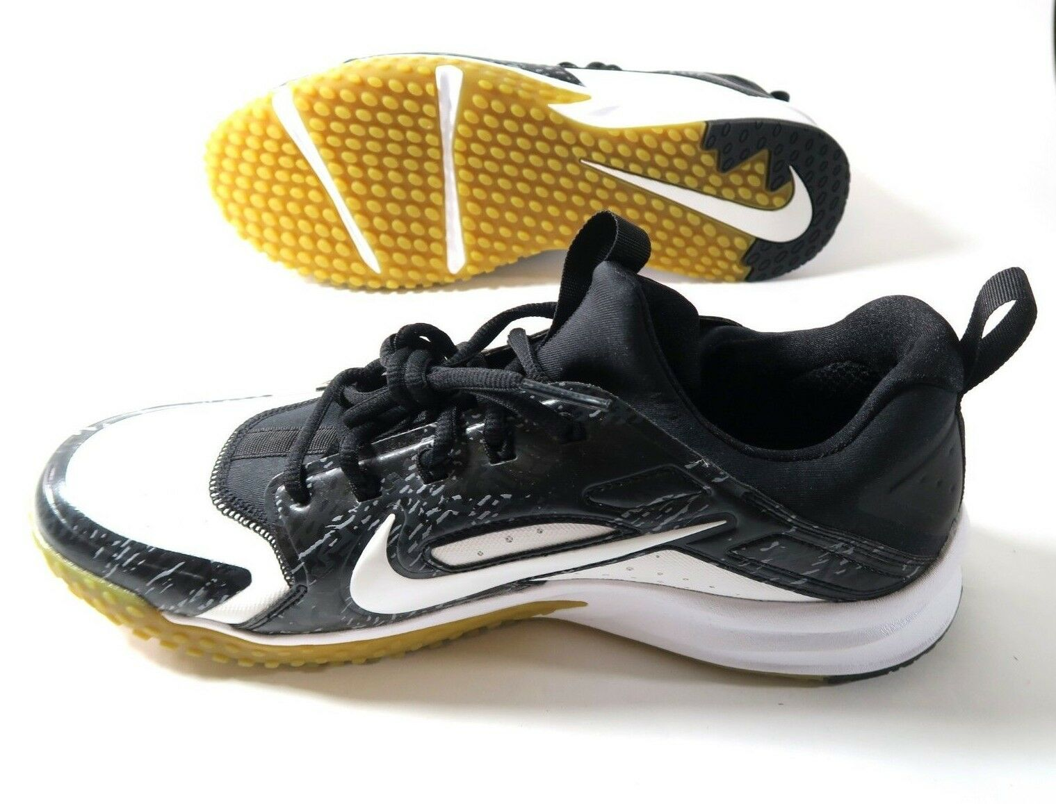 Nike Alpha Huarache Huarache Alpha Turf White/White-Black Mens Size 7.5 923435 100 New 160fff