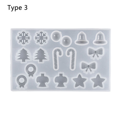 Tree Xmas Ornament Crystal Pendant Silicone Mould Christmas Mold Resin Molds