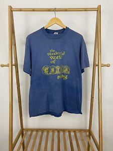 VTG-Stedman-The-Wonderful-World-Of-China-Painting-Faded-Single-Stitch-T-Shirt-XL