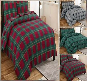 FLANNELETTE-THERMAL-100-BRUSHED-COTTON-QUILT-DUVET-COVER-BED-SET-COSY-WARM-SOFT