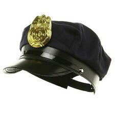 Black Police Hat Officer Hat Costume Accessory  Teen to Adult Size