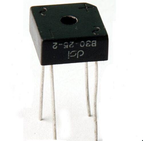 3//8amp. Puentes rectificadores 30vmax 1st con orificio DSi typ:b30-25-2