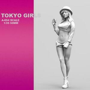 1-35-Standing-Beautiful-Girl-series-Resin-Soldier-Model-X9J8