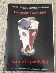 CATALOGUE-VENTE-2003-CHARTRES-ART-PUBLICITE-publicite-toles-affiches-enseignes
