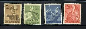 1943 Germany Nazi STAMP Third Reich Labor Service Corpsmen Swastika Deutsch MNH
