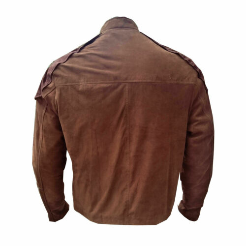Battlestar Galactica Viper Pilot Brown Suede Motorcycle Leather Jacket All Size
