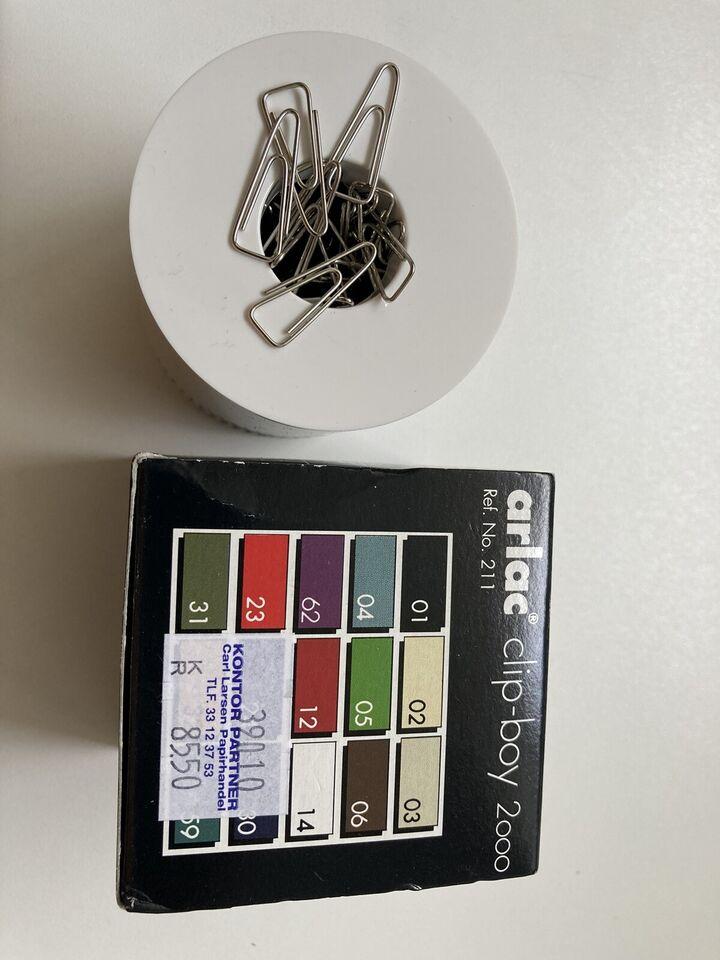 Clipsholder fra  Arlac   Magnetisk hvid clipsho...