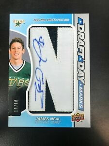 2018-19-Upper-Deck-SP-Game-Used-James-Neal-Draft-Day-Marks-Patch-Auto-034-N-034-10
