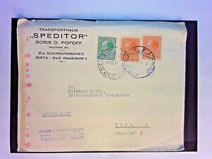 Bulgaria-1943-Censor-Cover-Missing-Tape-to-Germany-Z1087