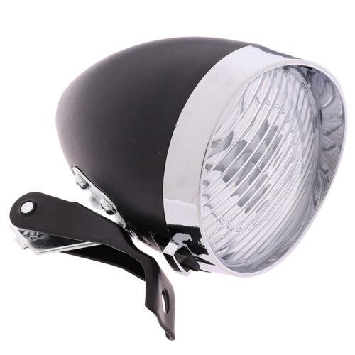 3 LED Retro Bicycle Bike Front Light Headlight Vintage Flashlight LampP/_me