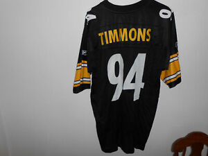 Details about Pittsburgh Steelers Lawrence Timmons Reebok Rbk Jersey L Large