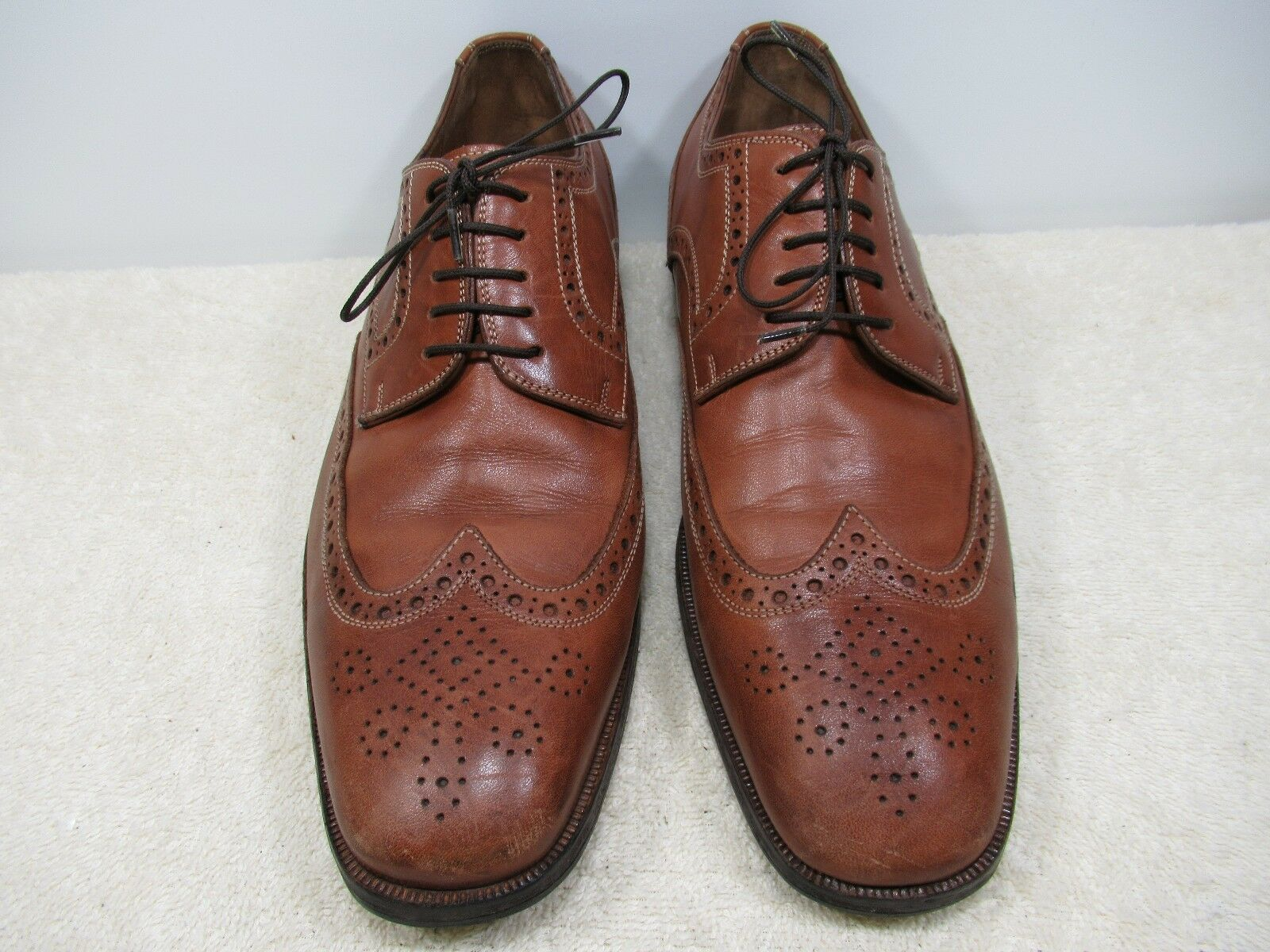 UNKNOWN US BROWN LEATHER UPPER SIZE US UNKNOWN 8.5 MADE IN ITALY 4afac1