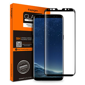 sale retailer 85a83 7a76b Details about Spigen® Samsung Galaxy S8 / S8 Plus [Glass FC] Shockproof  Glass Screen Protector