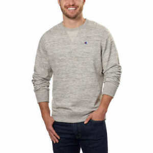 NWOT-Champion-Men-s-Textured-French-Terry-Crew-Pullover-Sweater-Grey-XXL