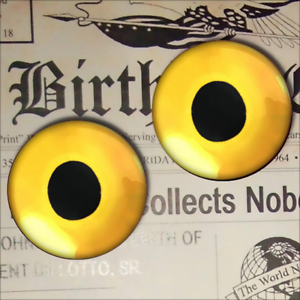 Green Cat Eyeballs Realistic Glass Animal Taxidermy Eyes 16mm