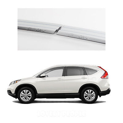 Side Window Vent Visor Deflectors Rain Guards (Chrome) (for Honda CR-V 12 - 13)