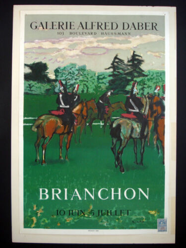 Maurice Brianchon Galerie Alfred Daber Vintage Lithograph Poster inv1034