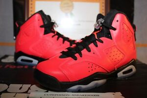 new high look out for cheap prices Details about Nike Air Jordan Retro 6 Infrared 23 GS Toro US Youth 4-7Y  [384665 623] W/Receipt