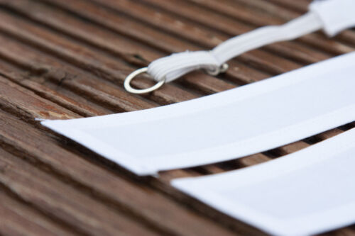 Plain Barrister bande de 100/% coton starched libre liant ou fermoir