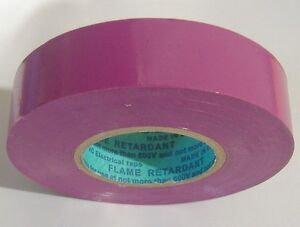 "PREMIUM GRADE VIOLET /  PURPLE ELECTRICAL TAPE ALL WEATHER PVC 3/4"" X 66' 7MIL"