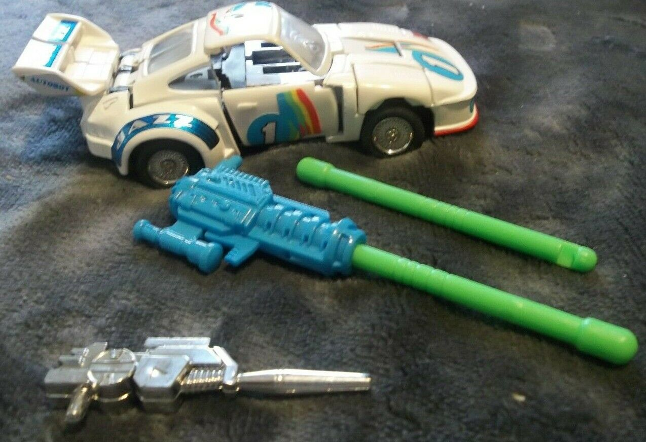Vintage TRANSFORMERS  JAZZ Autobot COMPLETE W  Parts Great Condition