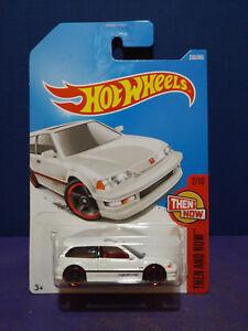 2017-Hot-Wheels-039-90-HONDA-CIVIC-EF-in-White-HW-THEN-amp-NOW-2-10-Long-Card