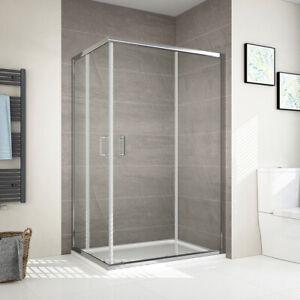 Details zu Duschkabine 80x80 90x120 100x100 75x90 Schiebetür  Duschabtrennung Duschwand Glas