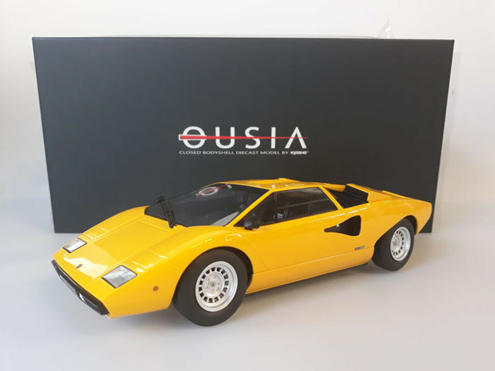 1:18 Scale OUSIA by KYOSHO KYOSHO KYOSHO LAMBORGHINI COUNTACH LP 400 giallo Nuovo In Box    1 55afb5