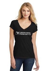 USPS-Postal-Post-Office-Juniors-Tee-Deep-V-Neck