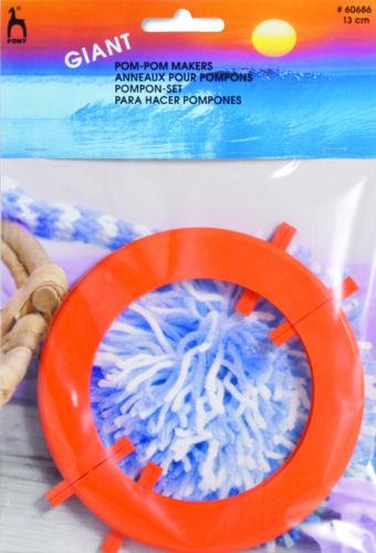 Pony pom pom makers solid or split ring 2 pair per pack 2 sizes