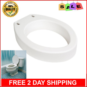 Details About Elongated Toilet Seat Riser For Medical Disabled Handicap Portable Round White