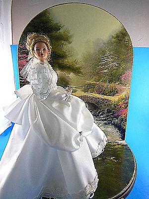 """The Bridge of Faith 11"""" blond porcelain Bride doll by Thomas Kinkade GORGEOUS!!"""