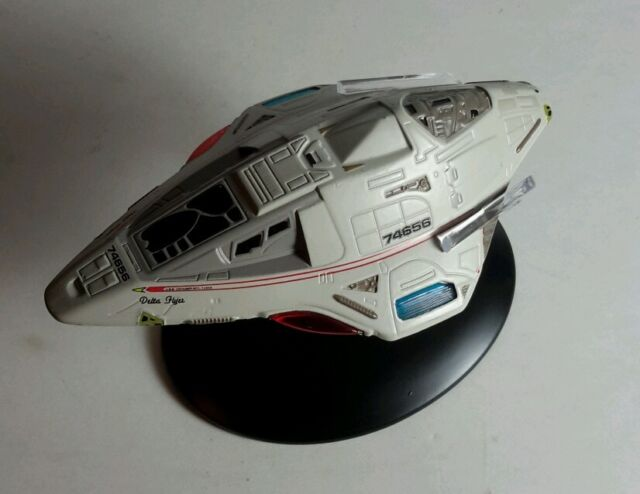 #38 Star Trek Delta Flyer Die Cast Metal Ship-UK/Eaglemoss w Mag-FREE S&H