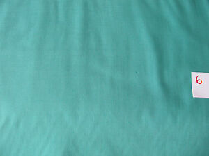 100-Cotton-Patchwork-amp-Quilting-Fabric-Solid-Plain-Jade-Green-36-034-wide