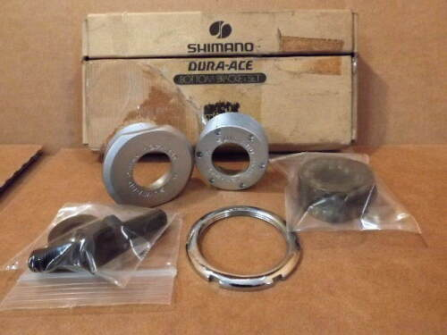 "1.37/"" x 24 tpi NOS Shimano Dura-Ace EX Bottom Bracket Cups//Bearings...English"