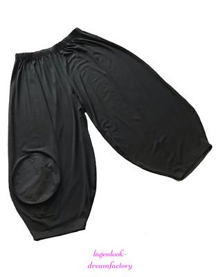 Lagenlook Jersey Falten-Ballon-Bollerhose schwarz 44,46,48,50,52,XL,XXL,XXXL
