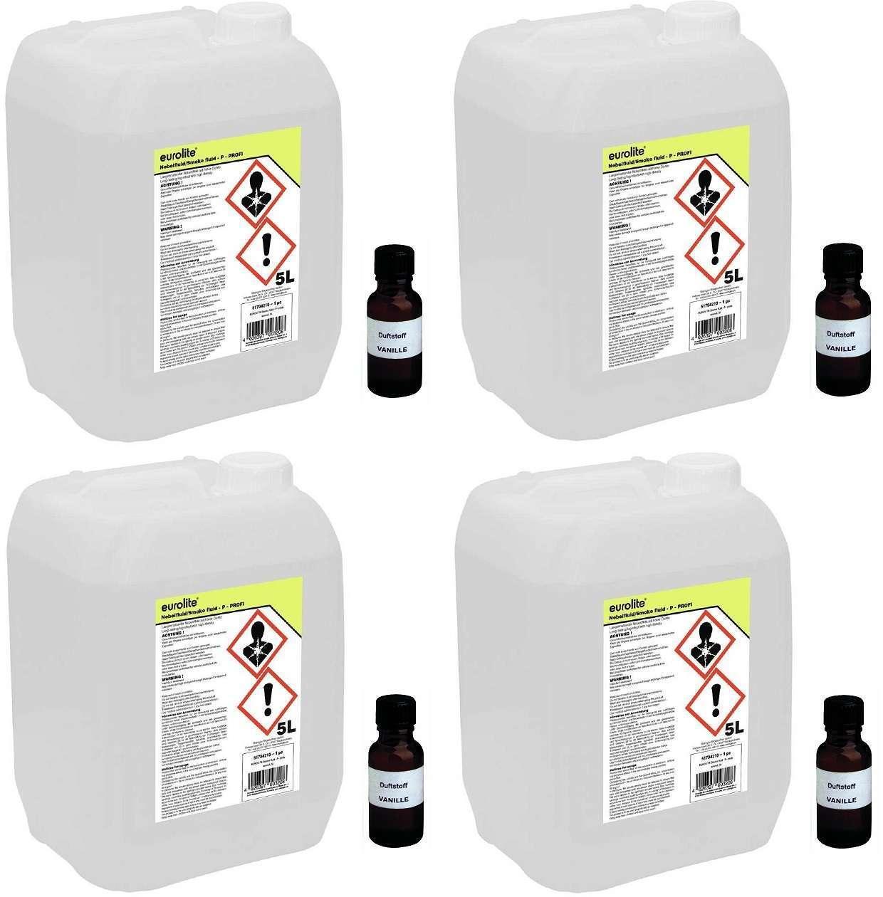 ( l) EUROLITE Smoke-Fluid -P- Profi 20 Liter + 4 x Nebel-Fluid-Duftstoff