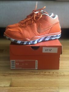 "Nike Air Trainer 1 Safety Orange Gray ""Vintage Box"" 371378-881 Size 10"