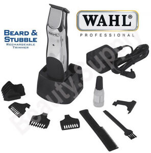 Wahl-Beard-Stubble-Mustache-Cordless-Rechargeable-Hair-Facial-Body-Trimmer-9918