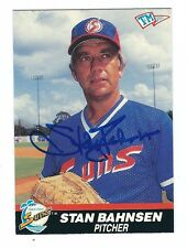 Autographed 1989-90 T&M Sports Stan Bahnsen Gulf Coast Suns Card w/ Show Ticket