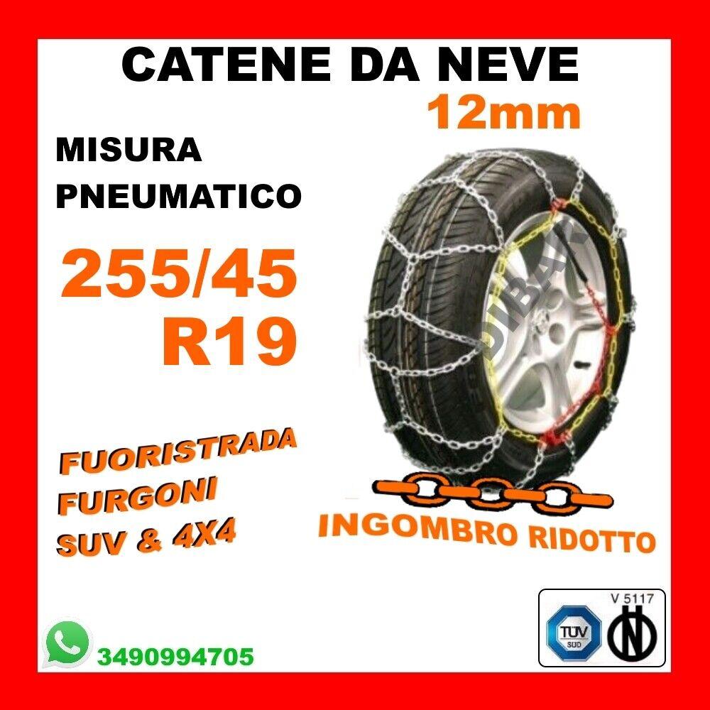 CATENE NEVE L25.5 SUV FUORISTRADA FURGONE CAMPER 16mm 285//50//18 285 50 18 CUNA