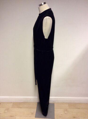 per velluto Size 22 Tuta nero cravatta nera in Una Per Rqwqv