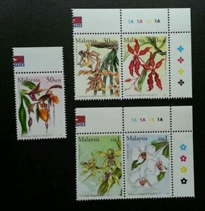 SJ-17th-World-Orchid-Conference-Malaysia-2002-Flower-Flora-stamp-color-MNH